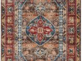 Isanotski Brown Blue area Rug isanotski oriental Brown area Rug