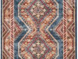 Isanotski Brown Blue area Rug isanotski Persian Inspired Red Blue area Rug