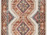 Isanotski Brown Blue area Rug Loon Peak isanotski southwestern Ivory Rust area Rug