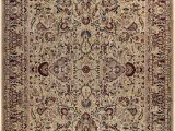 Ivory and Red area Rugs Bellomy Aness Hand Knotted Wool Ivory Red area Rug