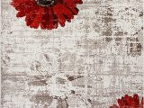 Ivory and Red area Rugs Dynamic Rugs Infinity 1250 Ivory Red area Rug