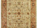 Ivory and Red area Rugs Exquisite Rugs Serapi Hand Knotted 9160 Ivory Red area Rug