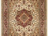 Ivory and Red area Rugs Leona oriental Ivory Red area Rug