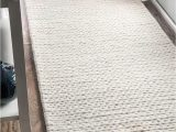 Ivory tonal Sweater Wool Emilie area Rug Nuloom F White Hand Woven Chunky Woolen Cable Cb01 area