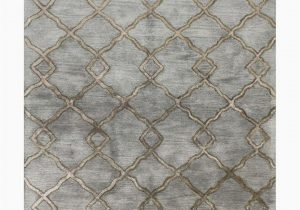 Jeannine Hand Tufted Wool Gray Ivory area Rug Diamonds Hand Tufted Rug by Bashian Rugs at Gilt