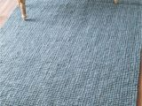 Jute and Blue Rug 5 X 7 6