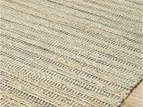 Jute and Chenille area Rug Pdjr 01 Bleach Navy
