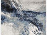 Kaia Blue area Rug Elara Abstract Blue Gray area Rug