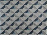Kaia Blue area Rug Kaia Contemporary Geometric soft touch area Rug by Rugs America Grey tone 5 X
