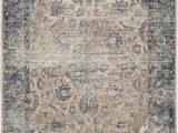 Kathy Ireland area Rug Collection Kathy Ireland Malta Mai13 Blue Ivory area Rug