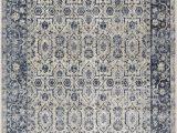 Kathy Ireland Rugs Blue Kathy Ireland Malta Mai04 Ivory Blue area Rug