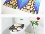 Kids Bathroom Rug Sets Hd Printing Bathroom Mat Set 3pcs Stone Pattern Europe Foam
