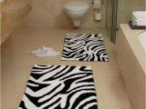 Kohls Bathroom Rugs Sets Animal Zebra Black and White Bath Rug All About Furniture
