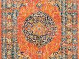 Kujawa Blue area Rug Mistana Pamela orange Yellow Blue White area Rug