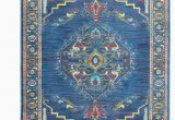 Kujawa Blue area Rug Saige oriental Blue Teal Blue area Rug