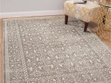 Large area Rug with Fringe Faded Silver Gray and White Worn Persian Style Fringe area Rug