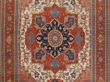 Large area Rugs 12 X 14 Geometric Indo Heriz Serapi oriental area Rug Handmade Wool Carpet 12×14