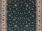 Large area Rugs 12 X 18 Floral Green Kashan oriental Hand Knotted area Rug 12×18
