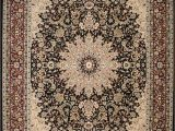 Large area Rugs at Ollies Feraghan New City Traditional isfahan Wool Persian area Rug 13 X 16 Black