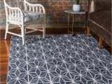 Large area Rugs for Basement Basement Rug Navy Blue Jill Zarin 8 X 10 Uptown Collection