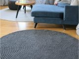 Large area Rugs for Nursery Handmade Dark Gray Round Rug Round area Rug Nursery Rug
