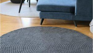 Large area Rugs for Nursery Handmade Dark Gray Round Rug Round area Rug Nursery Rug