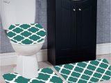 Large Bathroom Rug Sets Wpm 3 Piece Bath Rug Set Diamond Pattern Bathroom Rug 50cmx80cm Contour Mat 50cmx50cm with Lid Cover Teal
