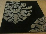 Large Black area Rugs Cheap Clearance Lot Of 4 Damask Black Woven Large area Rugs