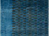 Large Blue Wool Rug area Rug for Living Room Bedroom