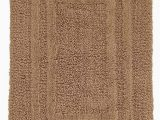 Large Cotton Bathroom Rugs Hotel Collection Reversible Cotton Bath Mat 27×48 solid Brown Chamois Huge