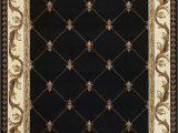 Large Fleur De Lis area Rugs Kas Corinthian 5321 Black Fleur De Lis area Rug