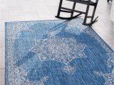 Large Indoor Outdoor area Rugs Outdoor Traditional Blue 9×12 area Rug Indoor Outdoor