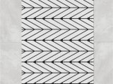 Large Memory Foam Bath Rug Black White Herringbone Bath Mat