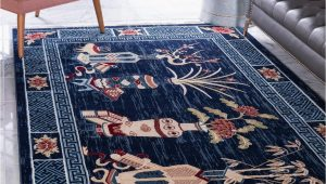 Large Navy Blue Rug Pao tou Navy Blue 9×12 area Rug In 2020