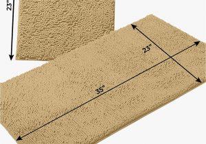 Large Plush Bathroom Rugs Details About Luxurux Bathroom Rugs Luxury Chenille 2 Piece Bath Mat Set soft Plush Anti Slip