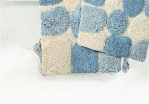 Large Plush Bathroom Rugs Plush Pebble Pattern Bath Rug Aquamarine