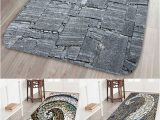 Large Square Bath Rug Dresslily Stone Printed Water Absorption area Mat