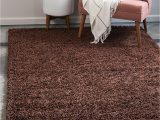 Large Thick soft area Rugs Bravich Rugmasters Chocolate Brown Extra Rug 5 Cm Thick Shag Pile soft Shaggy area Rugs Modern Carpet Living Room Bedroom Mats 160 X 230 Cm