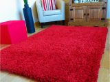 """Large Thick soft area Rugs New Red Extra Thick Heavy Chunky 6cm Pile soft Luxurious Shaggy Modern area Bedroom Hall Rug Runner Mat Small Xx Large 120 X 170 Cms 4 X 5 6"""""""