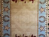 Large Western Style area Rugs Western Country southwest Rustic Cowboy Horse Star Lodge
