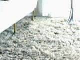 Large White Fluffy area Rug Purple and White Rug