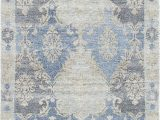 Laura ashley 8×10 area Rugs Cayla oriental Hand Knotted Silk Blue Beige area Rug