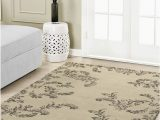 Laura ashley 8×10 area Rugs Laura ashley Winchester Plush Knit Microfiber 4 X 6 Accent Rug Taupe