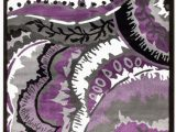 Lavender and Gray area Rug Alize Abstract Purple Gray area Rug