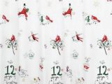"Lenox Christmas Bath Rug Lenox American by Design 12 Days Of Christmas Shower Curtain 72"" X 72"""