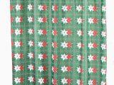 Lenox Holiday Nouveau Bath Rug Holiday Christmas Winter Poinsettia Fabric Shower Curtain Standard Size 70 X 72