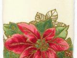 Lenox Holiday Nouveau Bath Rug Lenox Poinsettia Tartan Printed Fingertip towel