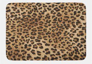 Leopard Print Bath Rugs Ambesonne Leopard Print Bath Mat & Reviews Shower Curtains