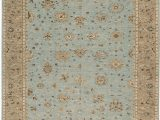 "Light Blue and Brown area Rugs E Of A Kind Hand Knotted Light Blue Light Brown 12 2"" X 15 6"" Wool area Rug"