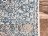 Light Blue and Brown area Rugs Edessa Tribal Medallion Light Blue Rug